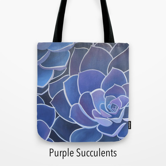 Puple succulents