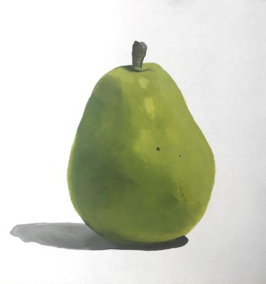 Rebecca Lloyd Art painting pear small